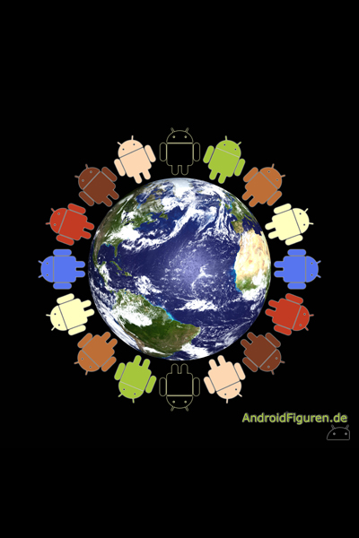 AndroidFiguren.de Poster We are the world