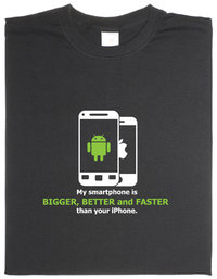 T-Shirt My Smartphone is better...