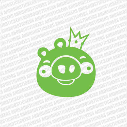 AndroidStickers.com Happy Pig King Decal