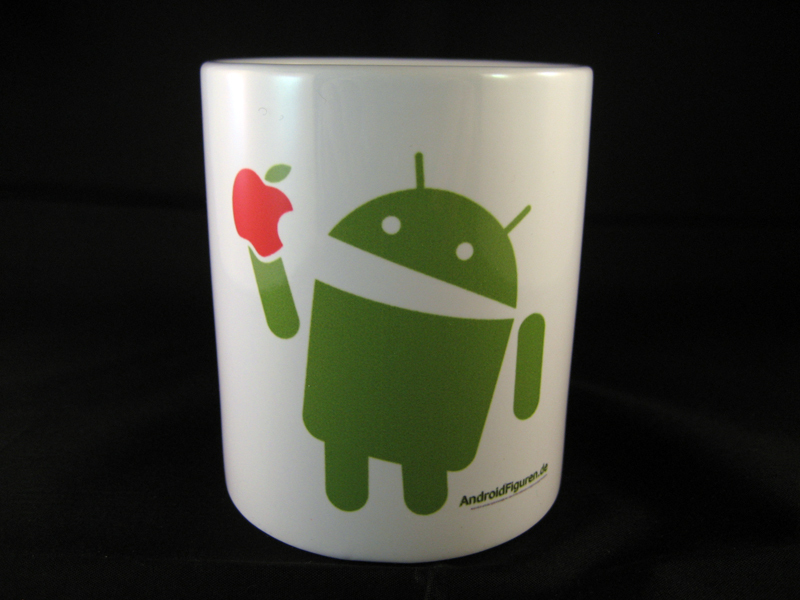 Android Mug Eat Apple