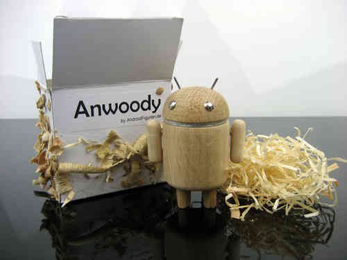 AndroidFiguren.de Anwoody Eiche Bio Android made by Nature handgedrechselt