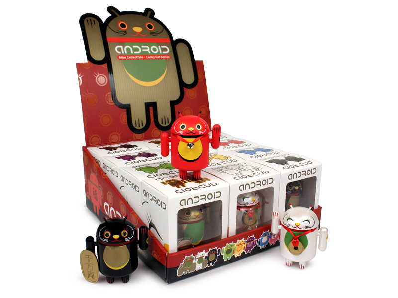 Android Mini Collectibles by Shane Jessup Lucky Cat Series