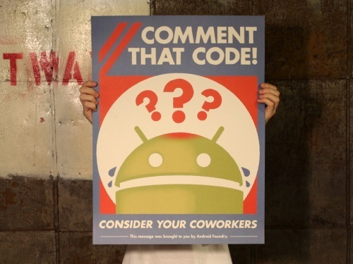 ANDROID FOUNDRY DESIGN CODE FOR VICTORY POSTER