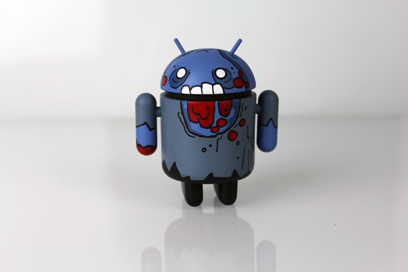 Mostly Harmless Edgar Custom Android Grayscale Zombie by Paul Robinson